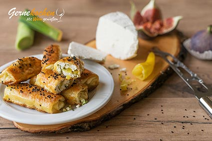 Rezept Tiropitakia - Anthotyro-Frischkäsefüllung umhüllt von Filoteig