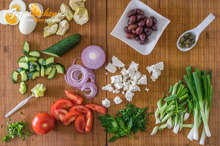 Griechischer Kartoffelsalat mit Feta – Zubereitungsschritt 2