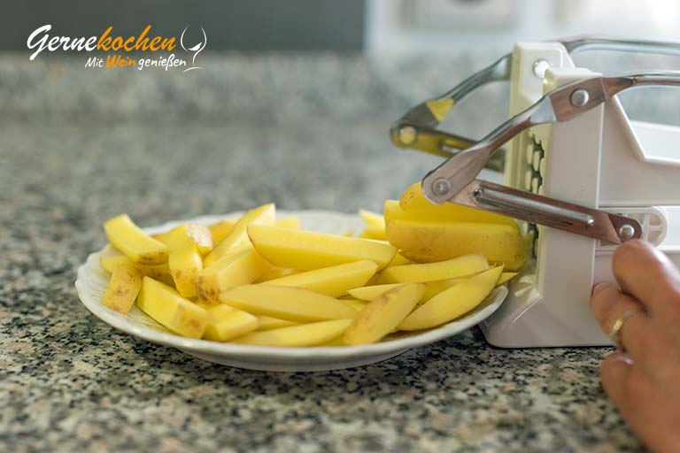 Pommes frites selber machen - Zubereitungsschritt 1.1