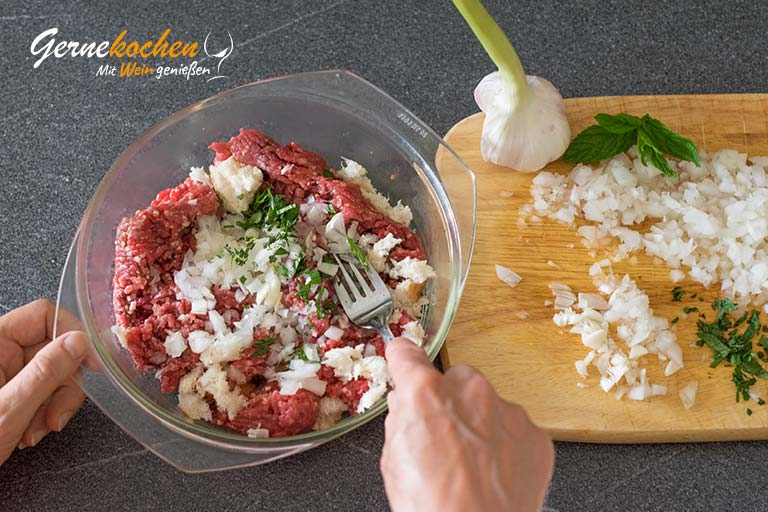 Auberginenröllchen mit Hackfleisch - Zubereitungsschritt 7