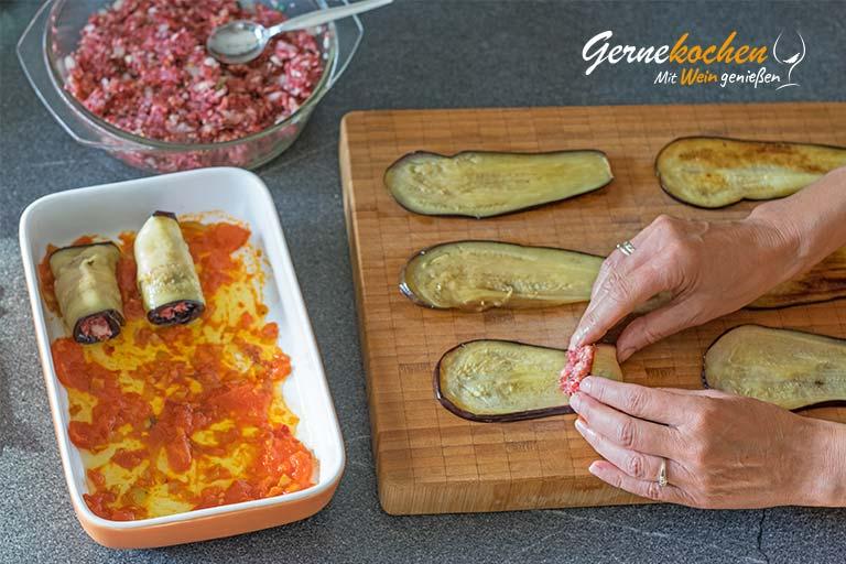 Auberginenröllchen mit Hackfleisch - Zubereitungsschritt 8