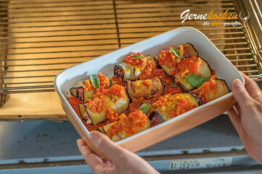 Auberginenröllchen mit Hackfleisch - Zubereitungsschritt 9