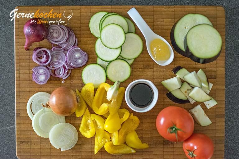 Caponata – Sizilianisches Gemüse – Zubereitungsschritt 1