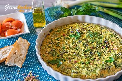 Frühlingsomelette von Lesbos – Omeleta Sfoungato