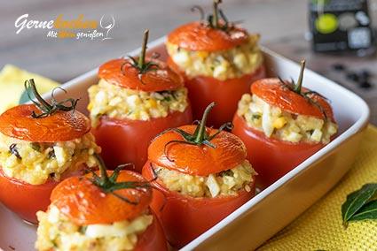 Gefüllte Tomaten - domátes gemistá Rezept