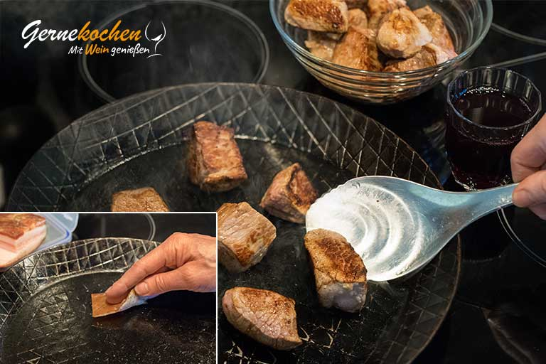 Kalbfleisch-Stifado aus dem Slow Cooker - Zubereitungsschritt 2.1