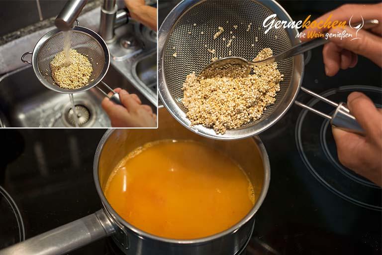 Mediterranes Ofengemüse mit Sardellen, Austernpilzen und Quinoa – Zubereitungsschritt 4