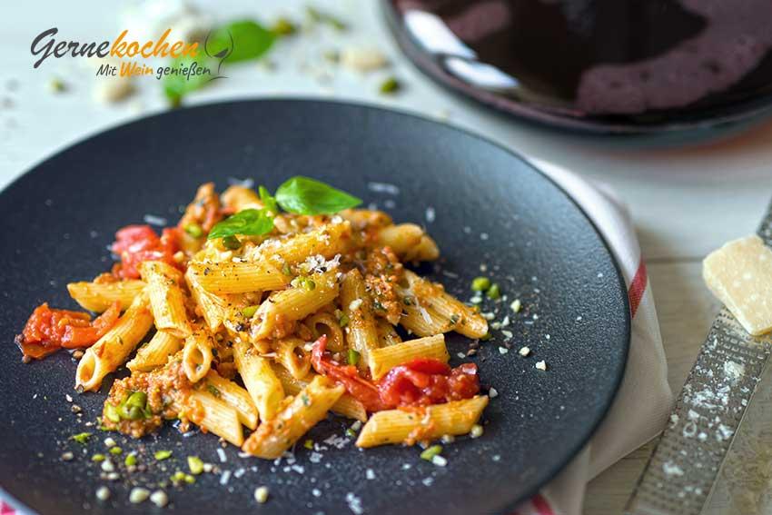 Pasta al pesto alla trapanese alla siciliana