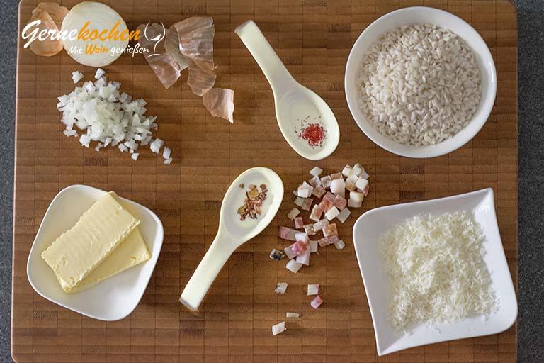 Risotto alla milanese – Zubereitungsschritt 1