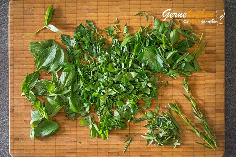 Tagliatelle mit Kräuter-Pesto und grünen Bohnen – Zubereitungsschritt 2