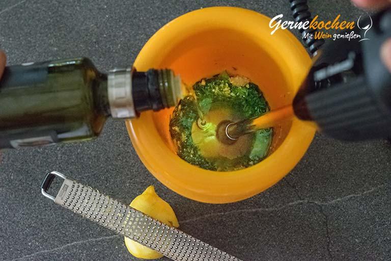 Tagliatelle mit Kräuter-Pesto und grünen Bohnen – Zubereitungsschritt 5