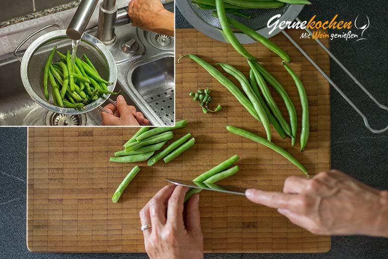 Tagliatelle mit Kräuter-Pesto und grünen Bohnen – Zubereitungsschritt 6