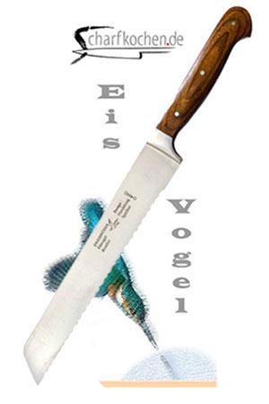 EISVOGEL Brotmesser Nr. 2159. Gernekochen - Mit Wein genießen