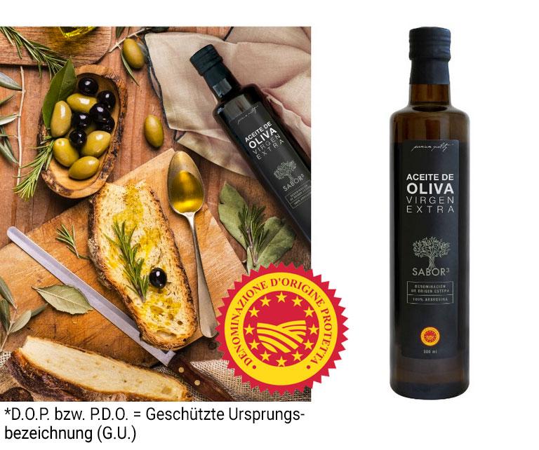 Sabor4 – Natives Olivenöl extra mit geschützter Ursprungsbezeichnung (G.U.)