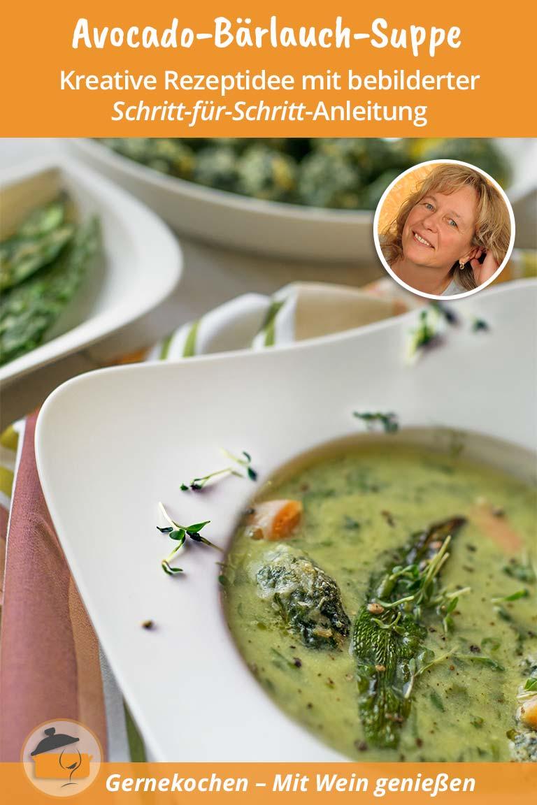 Avocado-Bärlauch-Suppe mit Gnocchi Rezept