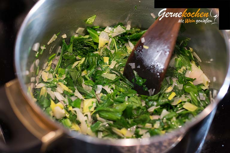 Avocado-Bärlauch-Suppe mit Gnocchi - Zubereitungsschritt 2.2
