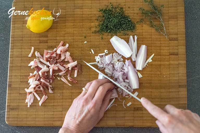 Cremige Pfifferlingsuppe - Zubereitungssschritt 1