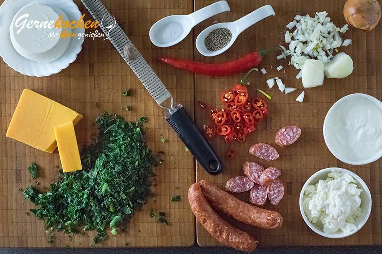 Deftige Winterpizza rheinische Art – Zubereitungsschritt 2