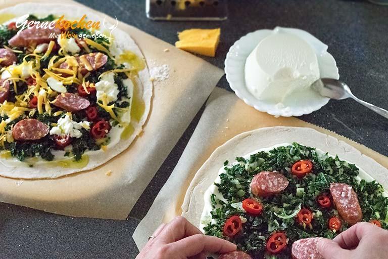 Deftige Winterpizza rheinische Art – Zubereitungsschritt 7