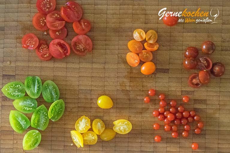 Flammkuchen mit Feta und Tomaten - Zubereitungsschritt 2.3