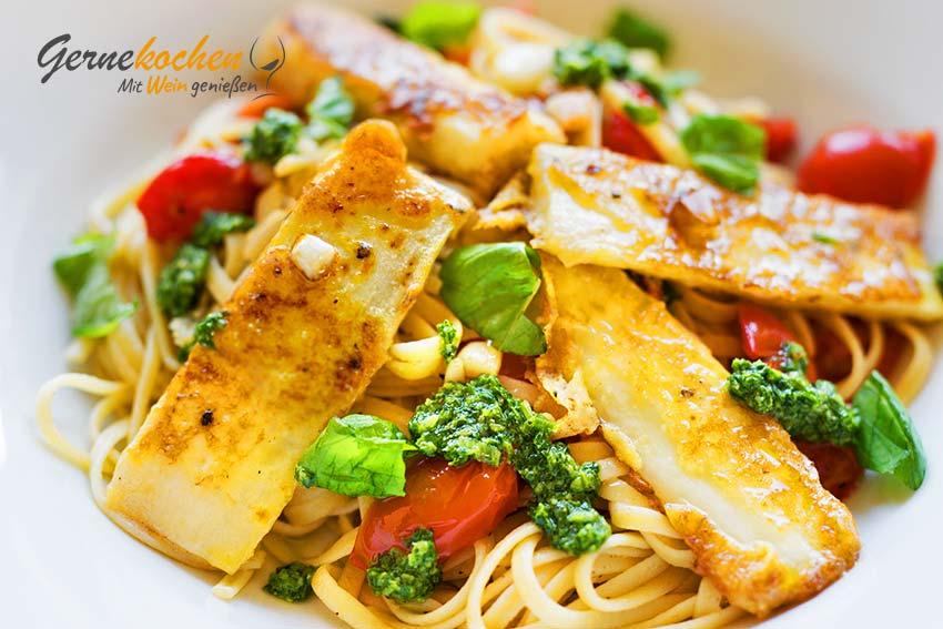 Frittierte Schwarzwurzeln mit Pasta und Pesto