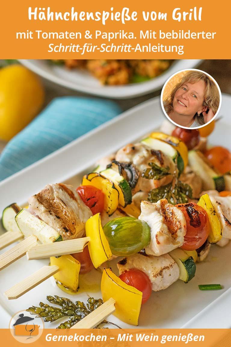 Hähnchen-Gemüse-Spieße vom Grill