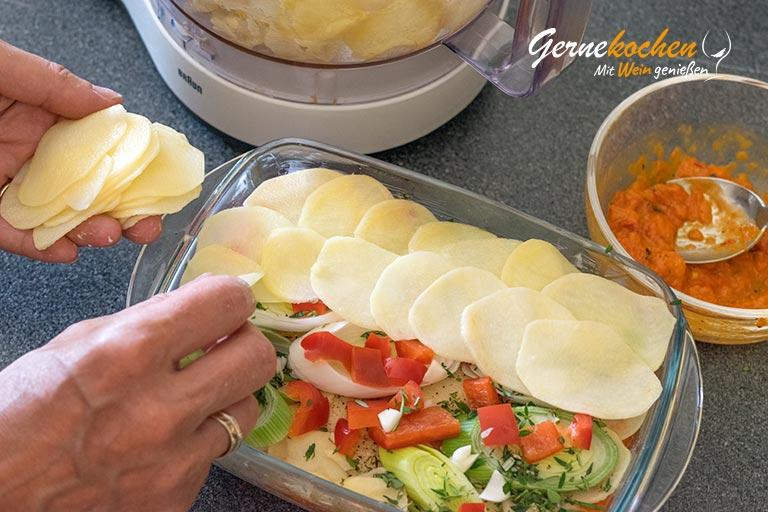 Kartoffel-Paprika-Lauch-Auflauf - Zubereitungsschritt 1.3