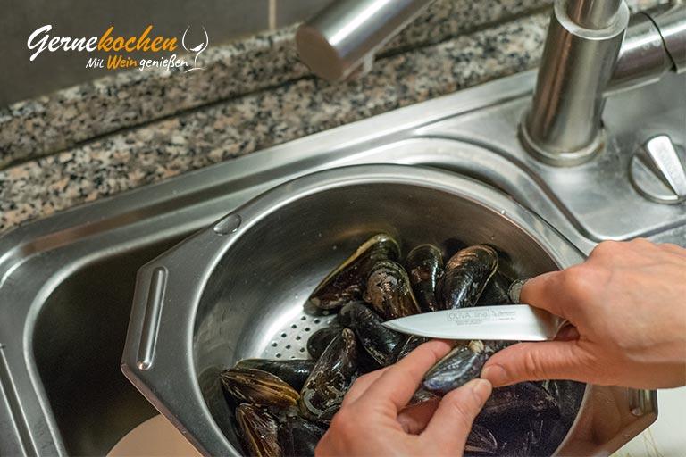 Muscheln rheinische Art - Zubereitungsschritt 2