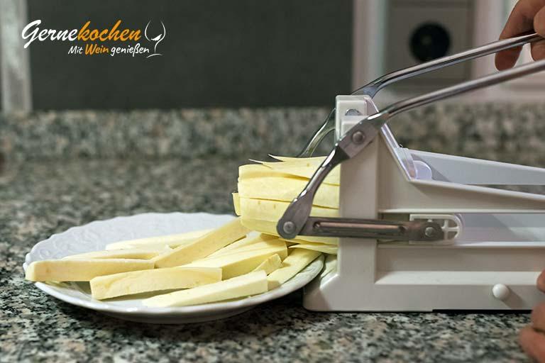 Pastinaken-Pommes frites - Zubereitungsschritt 1