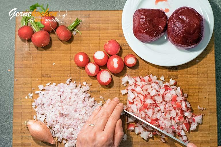 Schaumige Radieschen-Rote-Beete-Suppe - Zubereitungsschritt 1