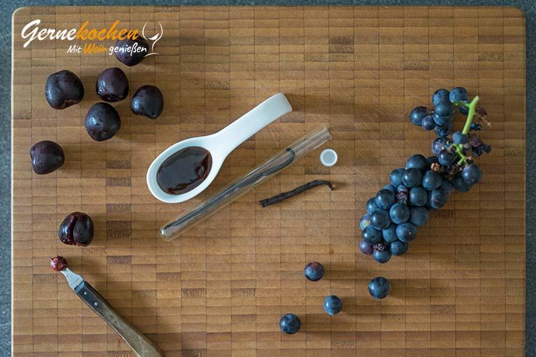 Weintrauben-Kirsch-Smoothie mit Vanille – Zubereitungsschritt 1