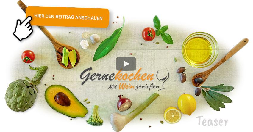 Gernekochen – Mit Wein genießen Food-Arrangement