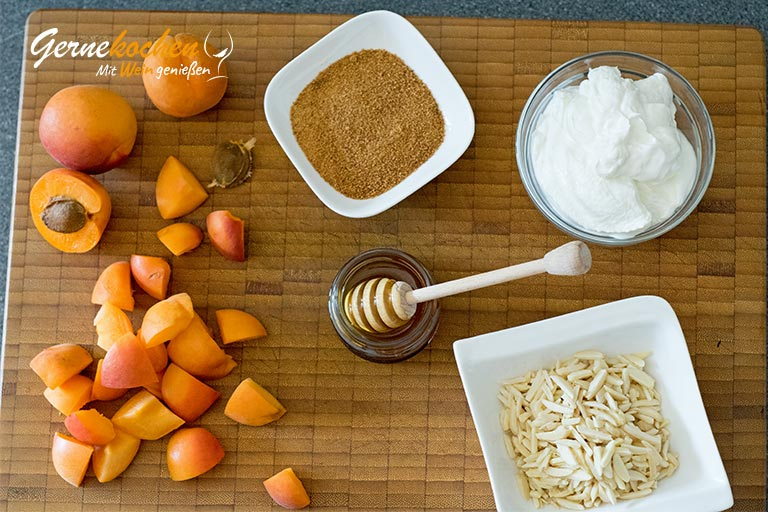 Aprikosencreme mit griechischem Joghurt – Zubereitungsschritt 1