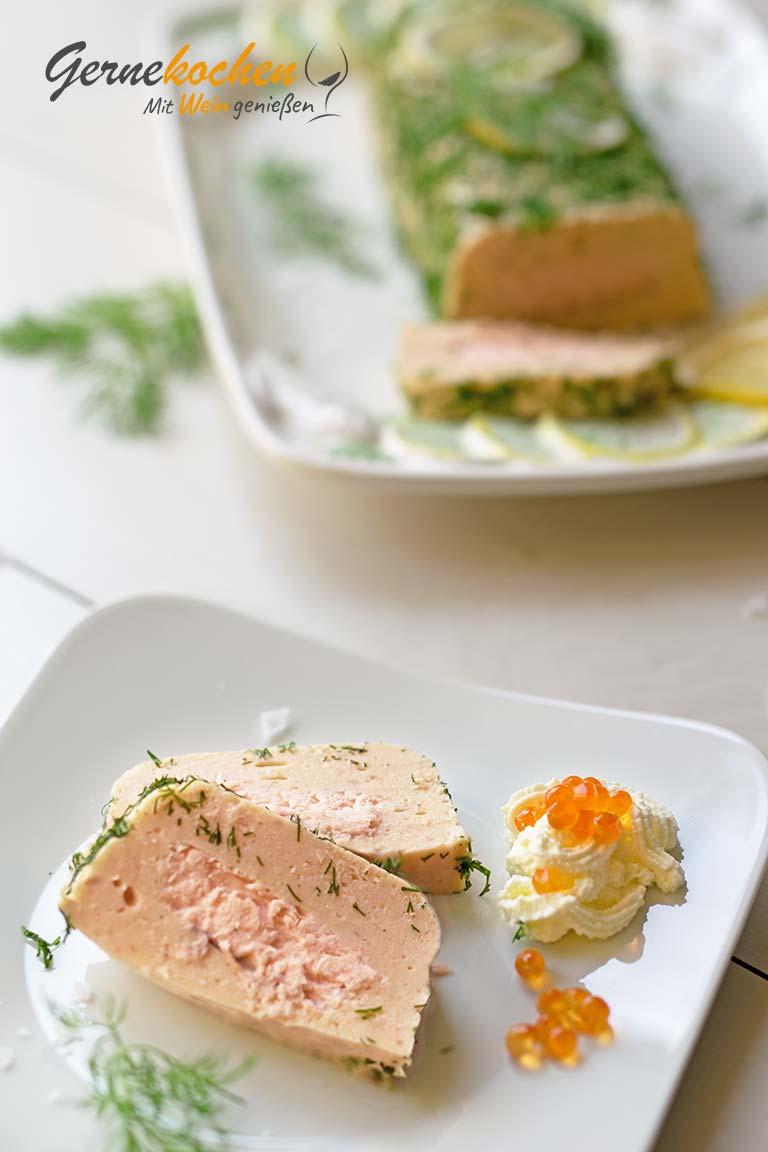 Lachsterrine mit Kaviar
