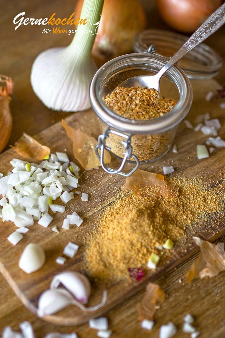 Zwiebel- und Knoblauchpulver selber machen