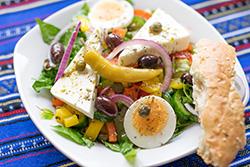 Food-Fotografie: Griechischer Salat mal anders