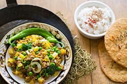 Food-Fotografie: Keema Matar - Indisches Hackfleischgericht