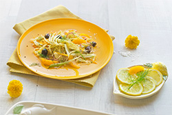 Food-Fotografie: Fenchelsalat mit Orangenfilets