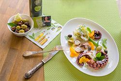 Food-Fotografie: Gebratener Octopus mit Ouzoschaum-Fenchelgemüse