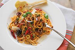 Food-Fotografie: Spaghetti alla Puttanesca
