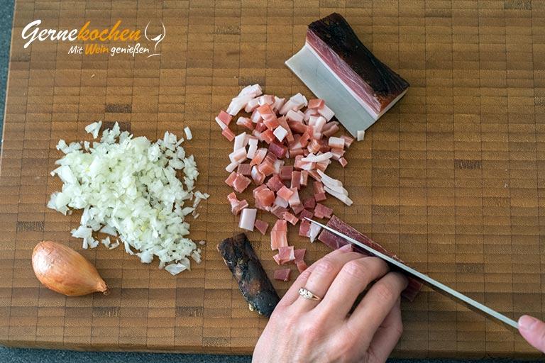 Bayrischer Kartoffelsalat mit Speck - Zubereitungsschritt 2