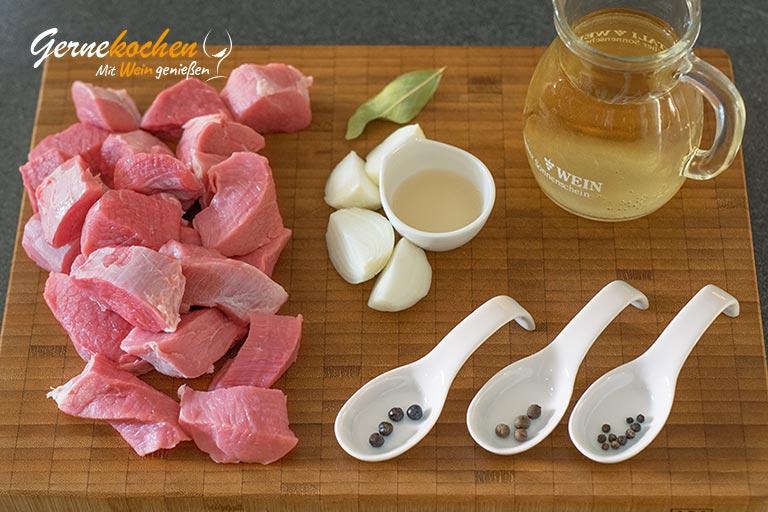 Eingemachtes Kalbfleisch badische Art - Zubereitungsschritt 1.1