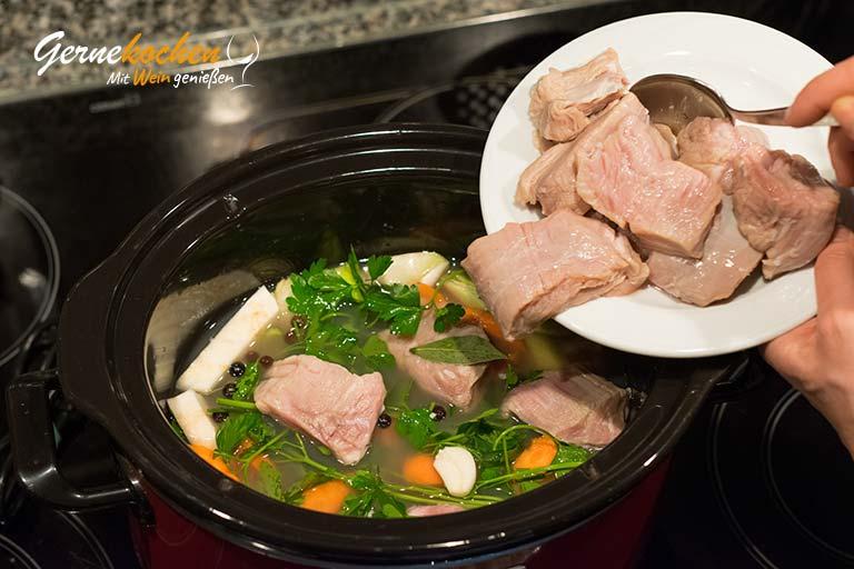 Eingemachtes Kalbfleisch badische Art - Zubereitungsschritt 2