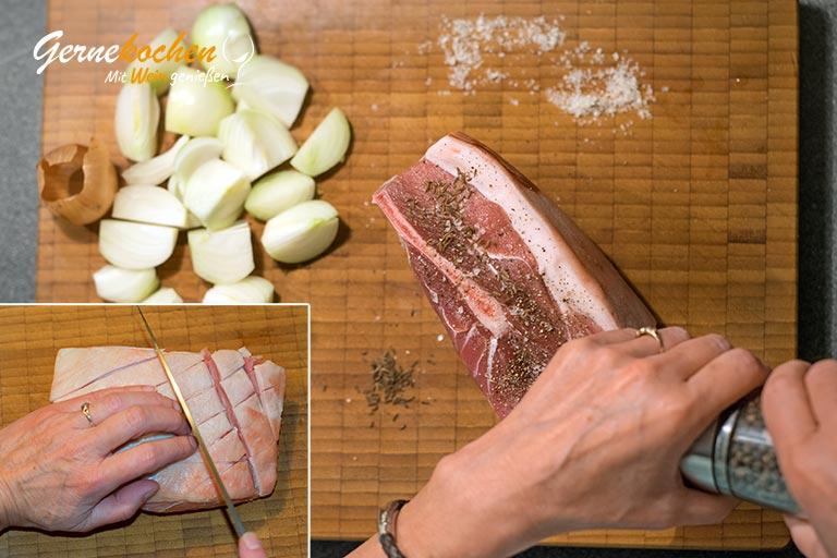 Fränkisches Schäufele aus dem Slow Cooker - Zubereitungsschritt 1