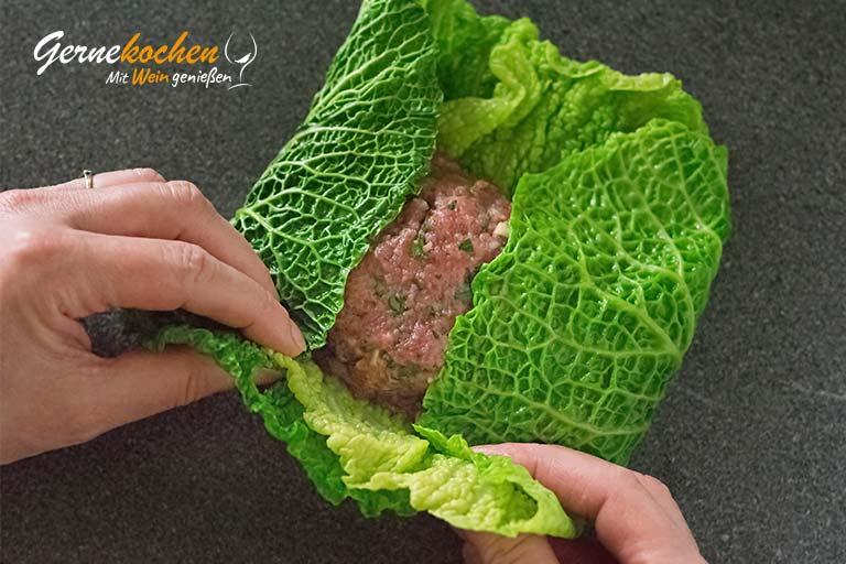 Kohlrouladen mit Hackfleisch – Zubereitungsschritt 4.3