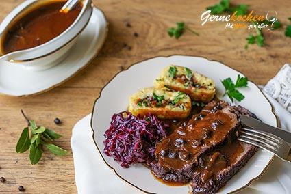 Rheinischer Sauerbraten Originalrezept. Gernekochen - Mit Wein genießen