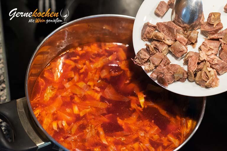 Borschtsch - Rote-Beete-Suppe - Zubereitungsschritt 3