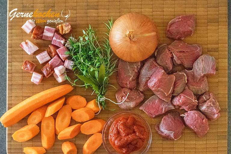 Boeuf en daube á la provençale - Zubereitungsschritt 1