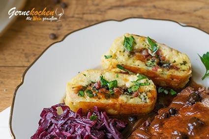 Erzgebirger Wickelklöße (Vogtländische Wickelklöße). Gernekochen - Mit Wein genießen