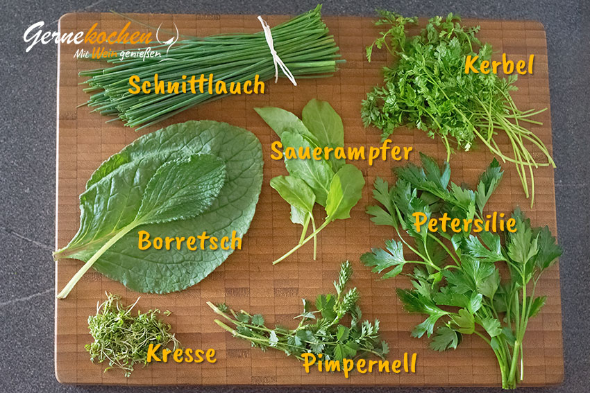 Kräuter für »Frankfurter Grüne Sauce«